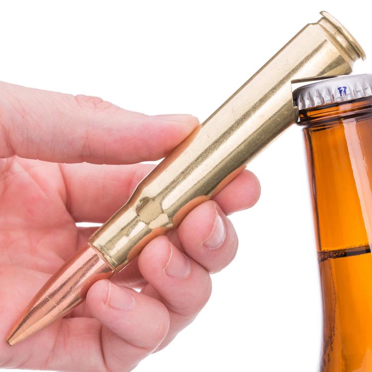 Lucky Shot - .50 Caliber Bullet Bottle Opener in Brass