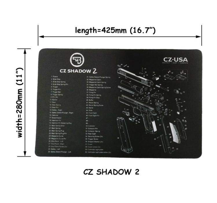 CZ shadow 2 Gun Cleaning Bench Mat