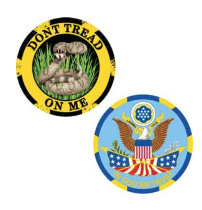 Eagle Emblem - Challange coin - Dont tread on me