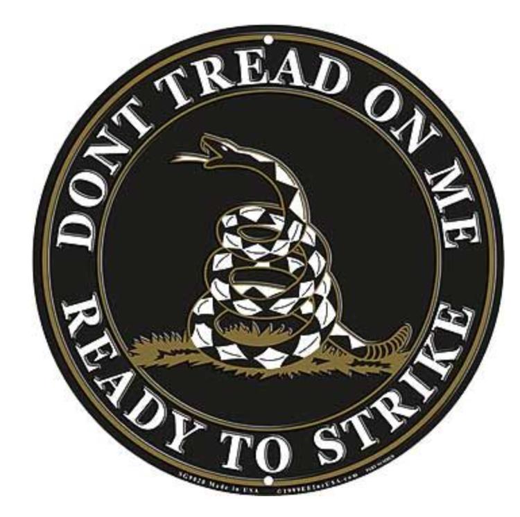Eagle Emblem - Sign - Dont tread on me