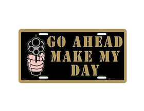 Eagle Emblem - Licens plate - Go ahead make my day
