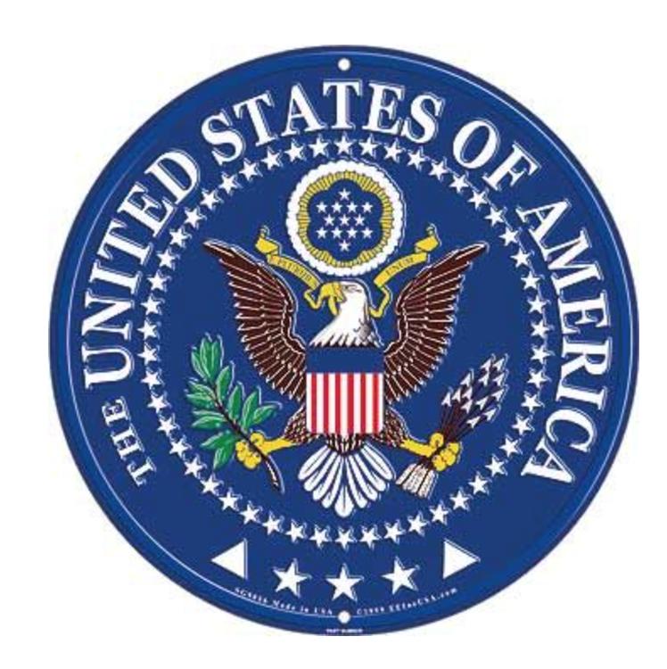 Eagle Emblem - Sign - United States of America