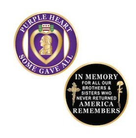 Eagle Emblem - Challange coin - Purple heart