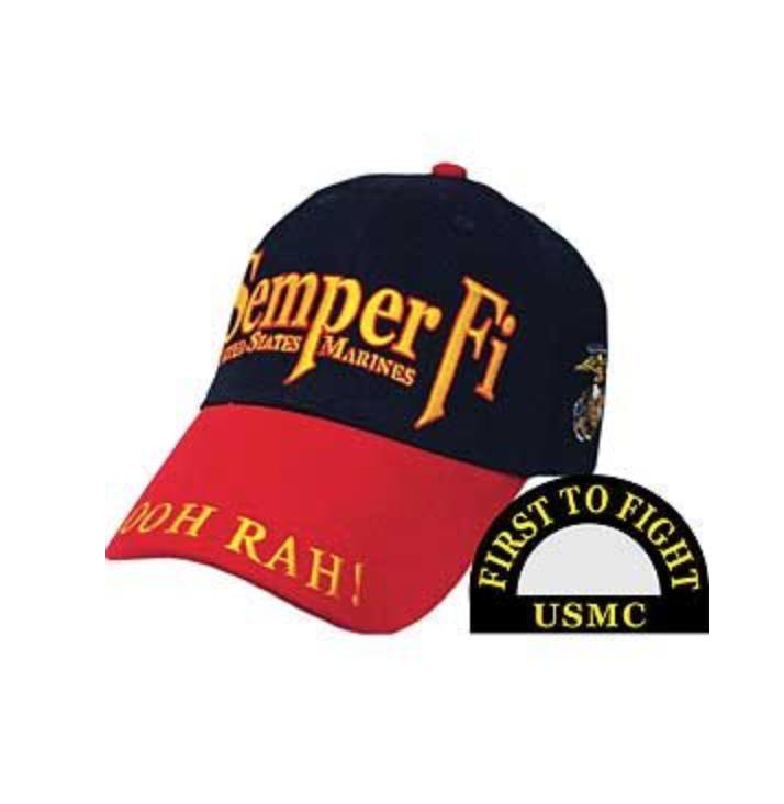 Eagle Emblem -  USMC Semper Fi - Cap