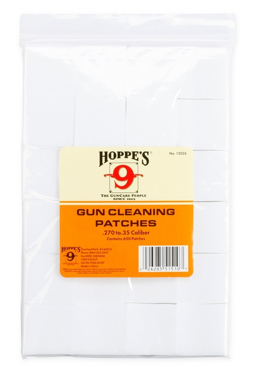 Hoppe's No. 9 - Gun Cleaning Patch, .270-.35 Bulk