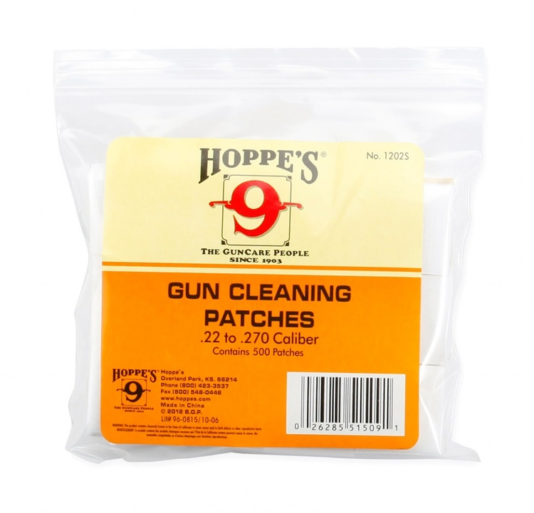 Hoppe's No. 9 - Gun Cleaning Patch, .22-.270 Bulk