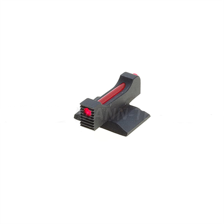 Eemann Tech - Front sight for 1911/2011, checkered with 1mm fiber optics rod
