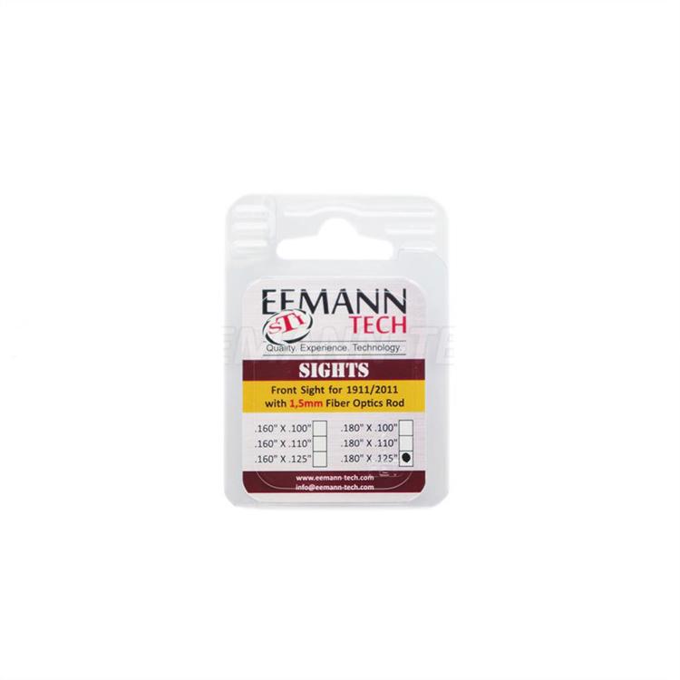 Eemann Tech - Front sight for 1911/2011, checkered with 1,5mm fiber optics rod