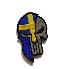 Sweden flag moon labe - Patch