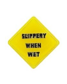 Eagle Emblem - Pin - Slippery when wet