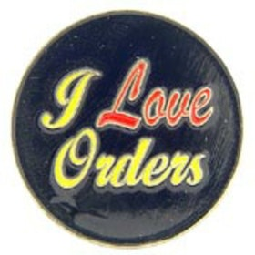 Eagle Emblem - Pin - I love orders