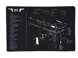 1911 Gun Cleaning Bench Mat
