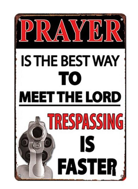 Prayer - Metal tin sign