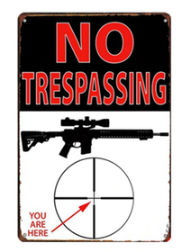 No Trespassing - Metal tin sign