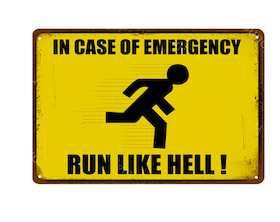 In case of Emergency - Metal tin sign