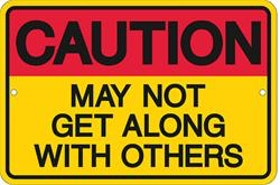 Caution - Metal tin sign