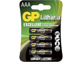 GP - Lithium AAA 1.5V - 4 pack