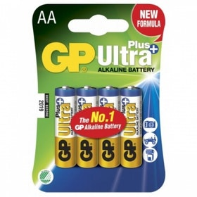 GP - Ultra Plus LR6 Alkaliskt  AA 1.5V - 4 pack