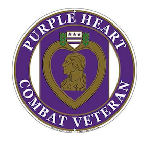 Eagle Emblem - Sign - Purple heart