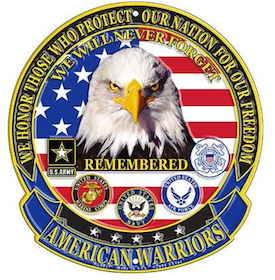 Eagle Emblem - Sign - American Warriors
