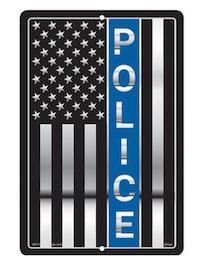 Eagle Emblem - Sign - Blue line
