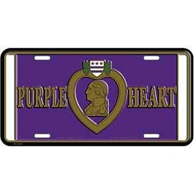 Eagle Emblem - Licens plate - Purple heart