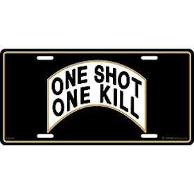 Eagle Emblem - Licens plate - One shot