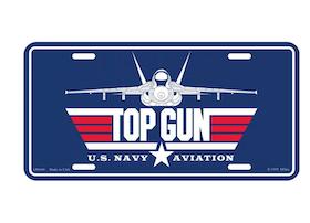 Eagle Emblem - Licens plate - Top Gun