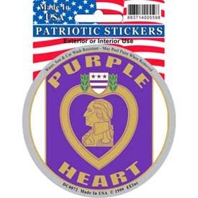 Eagle Emblem - Sticker - Purple heart