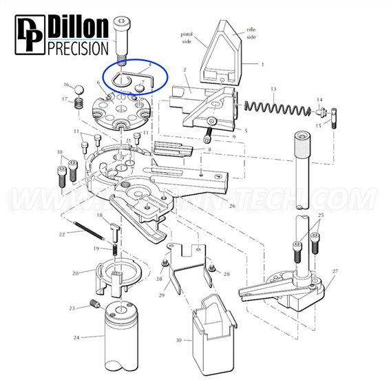 Eemann Tech - Ejector wire 13298 for Dillon XL650/XL750