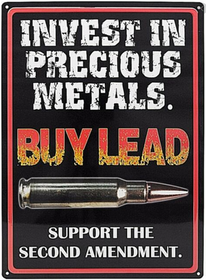 Buy lead - Metal tin sign