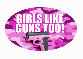 Girls like guns too - Sticker