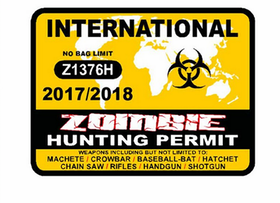 Zombie hunting permit - Sticker