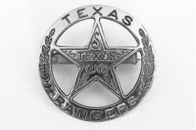 Denix -  Texas Ranger circle star cut-out badge