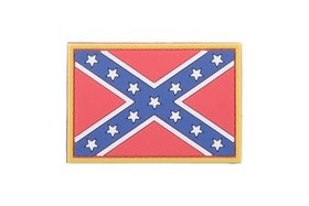 3D Rubber Confederate Rebel Patch