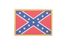3D Rubber Confederate Rebel Patch