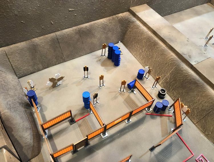 3D Stage Builder - Range Side Berms