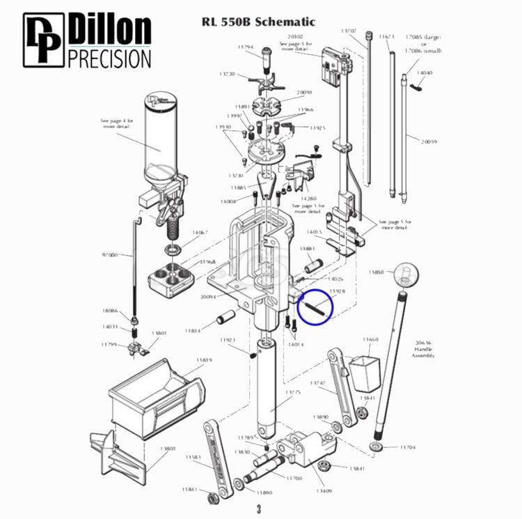 Eemann Tech - Slide Return Spring 13928 for Dillon RL550