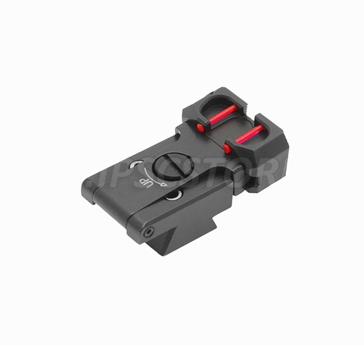"Eemann Tech - Adjustable rear sights with fiber optics ""Novak Type"" for 1911/2011"