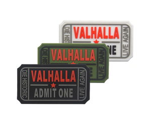 Valhalla Admit One - 3D PVC Rubber Patch