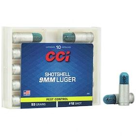 CCI - 9mm Luger 53 Grain Shotshell Ammunition - #12 Shot