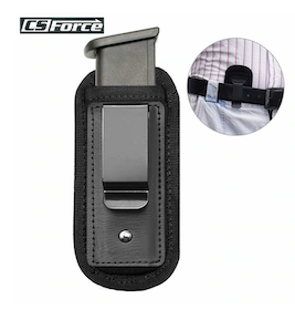 Magazine Pouch Nylon Holster Pistol - Concealed Carry Mag Case with Clip