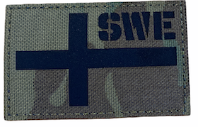 Sweden flag - Reflective Camo - Patch