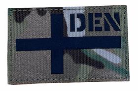 Denmark flag - Reflective Camo - Patch