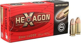 Geco - 9x19 Hexagon - 124 Grain, 50 ptr