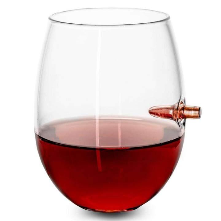 Lucky Shot - Bullet Wine Glass (Stemless) - .308