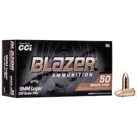 Blazer - 9mm Luger brass FMJ -124GR