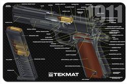 TekMat - Gun Cleaning Bench Mat 3D For 1911 Cutaway