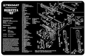 TekMat - Gun Cleaning Bench Mat 3D For Beretta 92