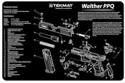 TekMat - Gun Cleaning Bench Mat 3D For Walther PPQ